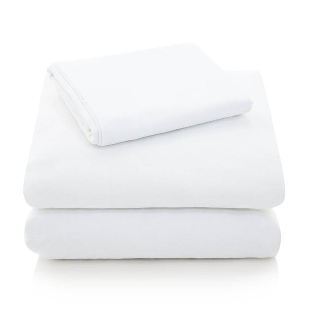 white flannel cotton sheet set