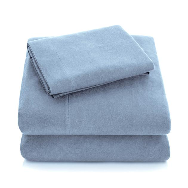 pacific lighter blue flannel sheets