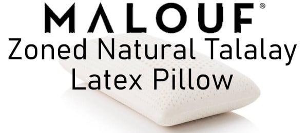malouf latex natural pillows