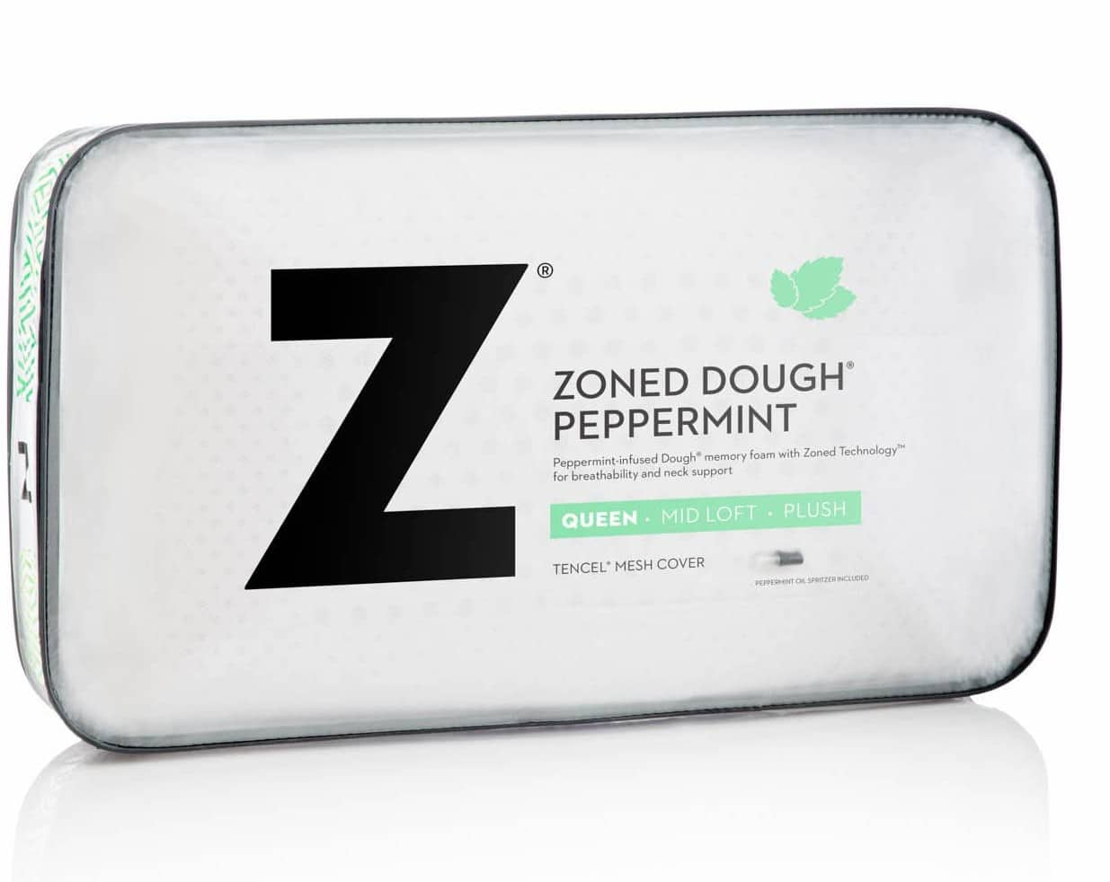 zoned dough peppermint pillow by malouf comfort