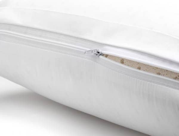malouf latex pillow removeable cover wash instructions