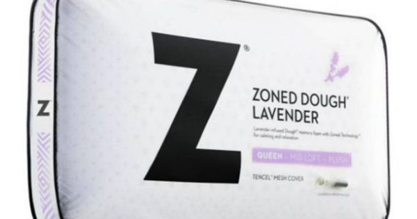 Malouf Lavender Memory Foam Pillow Zoned Dough Our