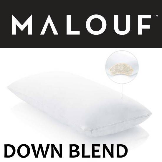 Malouf Down Blend Pillow with Cotton Encasement
