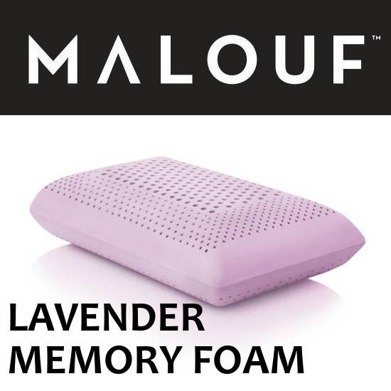 Malouf Lavender Memory Foam Pillow (Zoned Dough)