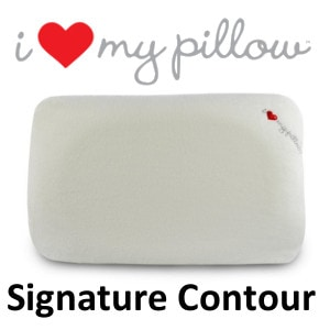 I Love My Pillow Signature Contour Pillow logo