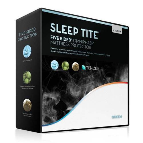 Malouf Sleep Tite Five-5ided Mattress Protector with Tencel & Omniphase