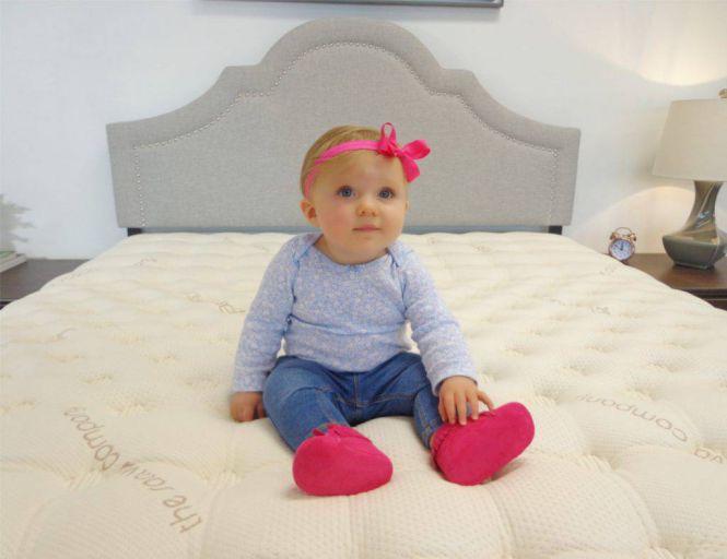 baby on a saatva mattress