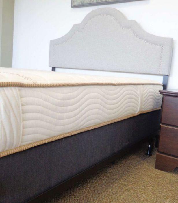 bed on bed frame
