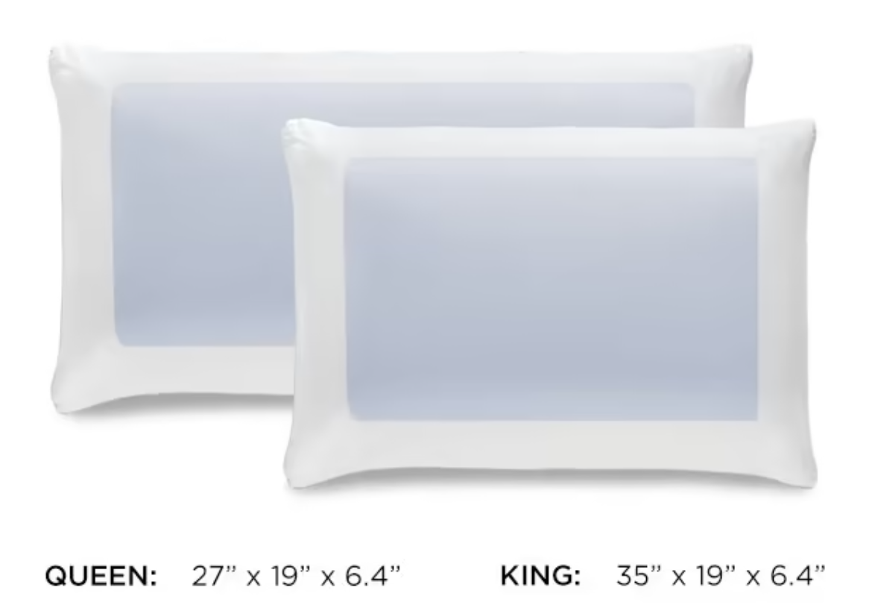 tempur-cloud dual sided pillow construction materials