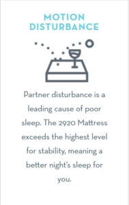 motion disturbance mattress review 2920