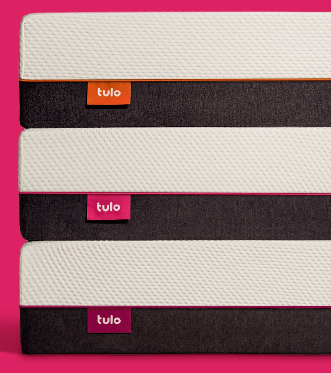 tulo stacked mattress pink