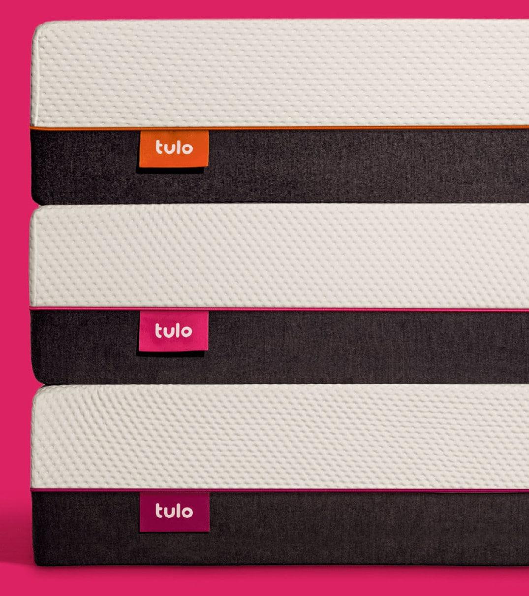 tulo stacked mattress pink