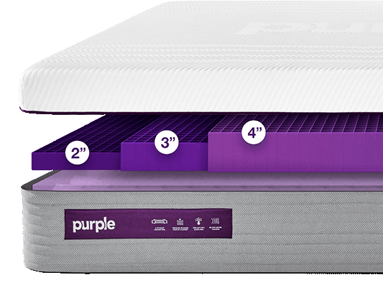 purple hybrid mattress options