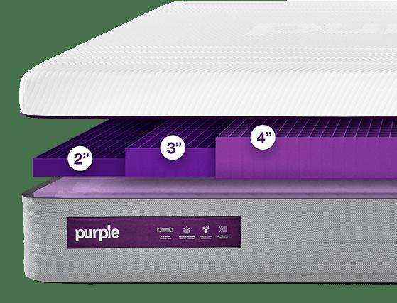 purple hybrid mattress options