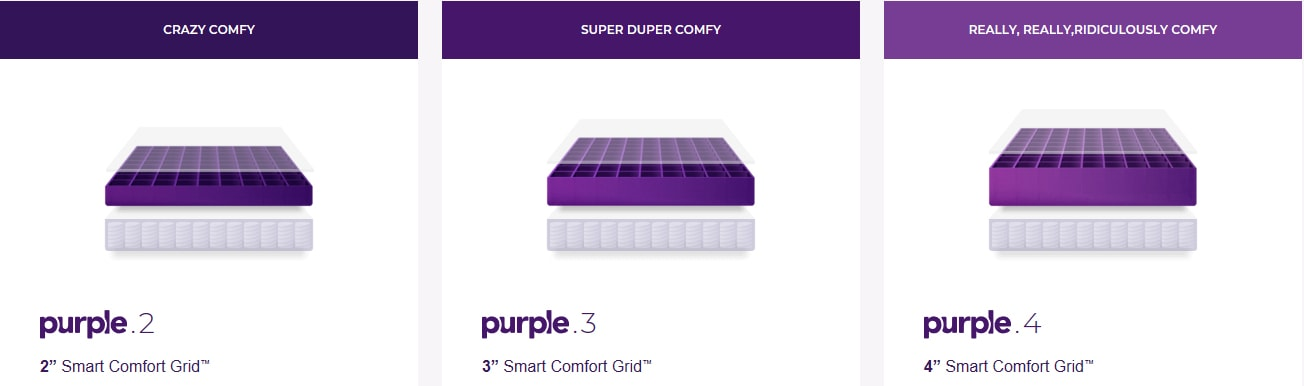 Purple Hybrid Comfort Options