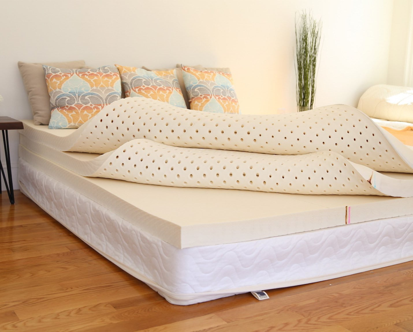 spindle bed in room
