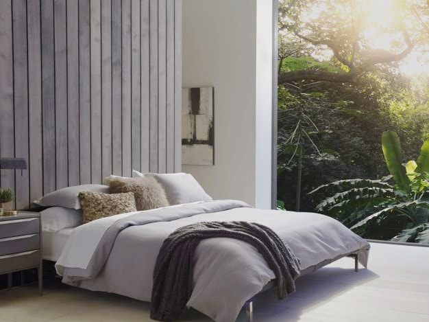 zenhaven bed in a staged room
