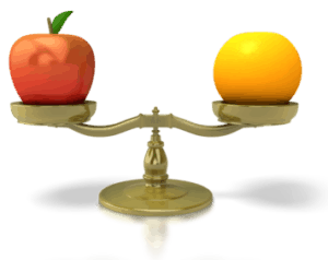 Apple to orange comparrison