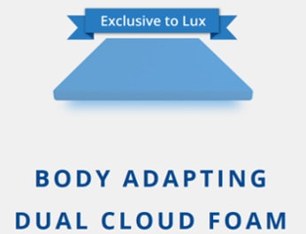 body adapting dual cloud foam