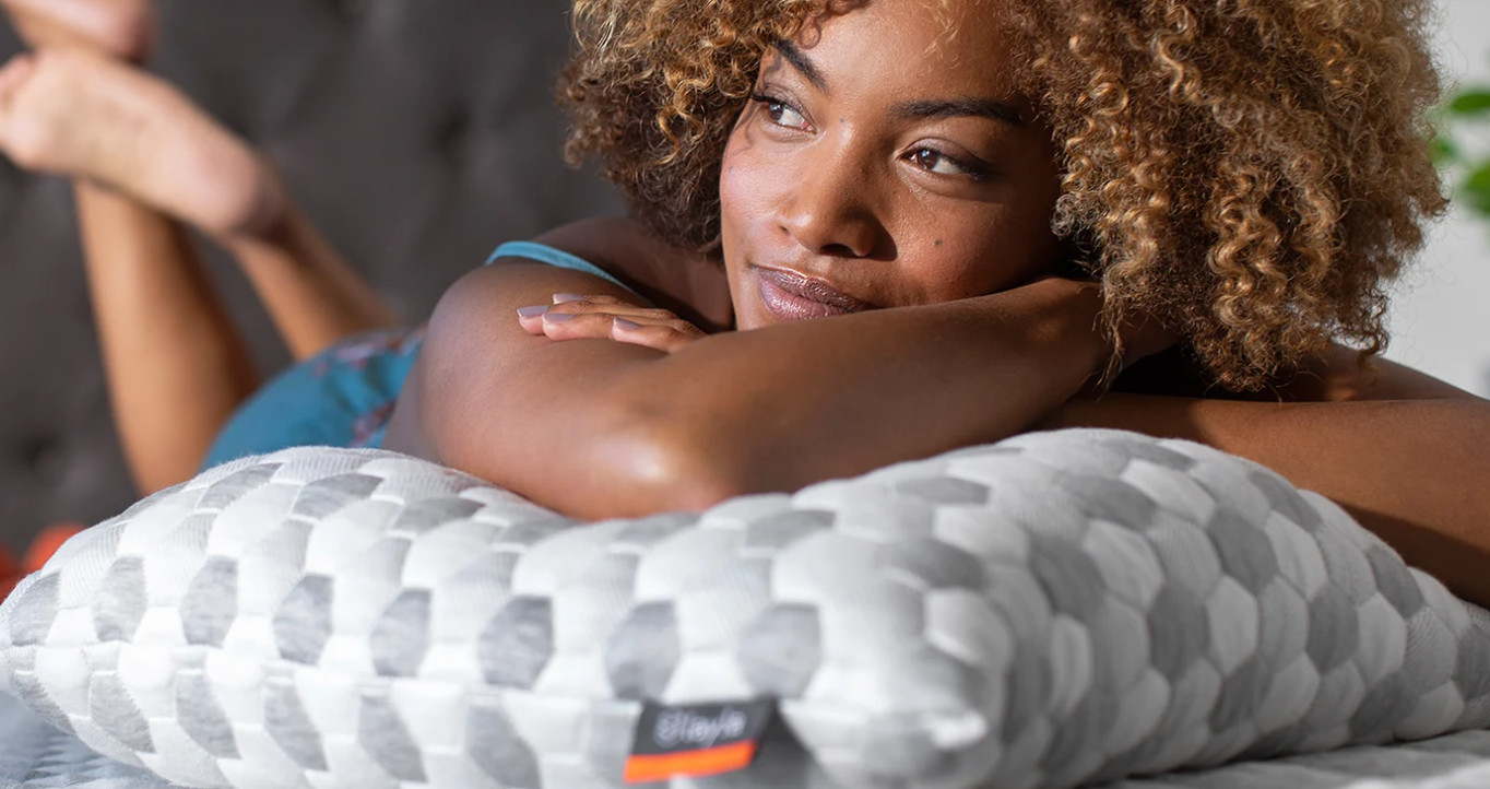 the layla pillow is soft and adjustable comfort