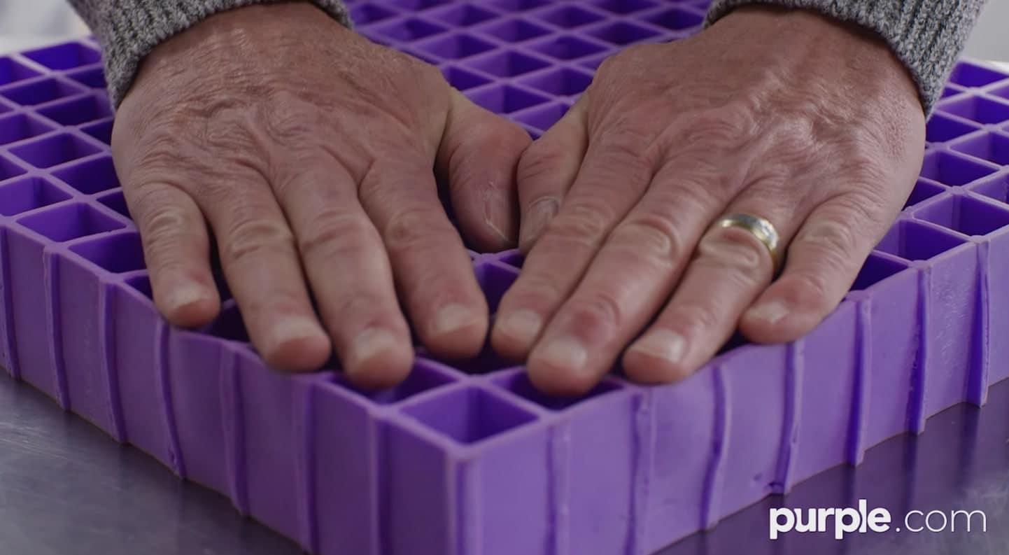 purple mattress sleeping cool