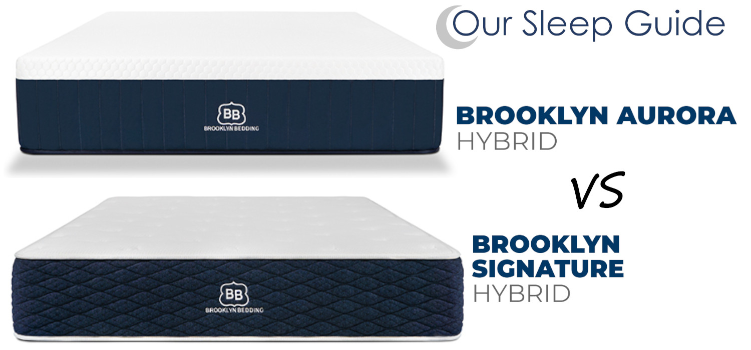 signature hybrid vs aurora brooklyn bedding beds review