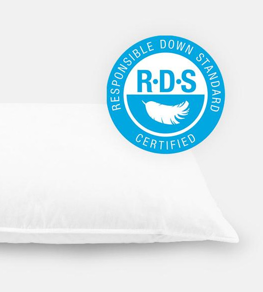 helix down & feather pillow materials