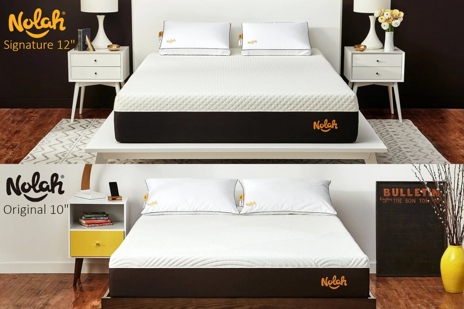 nolah vs nolah 12 vs 10 mattress comparison review hero image