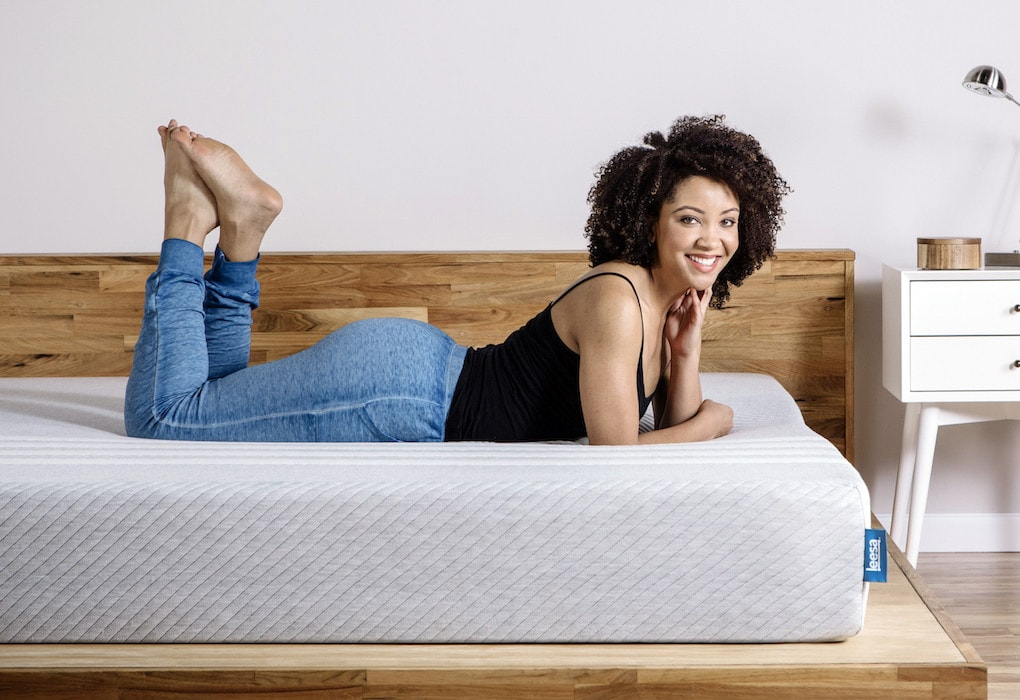 woman on mattress