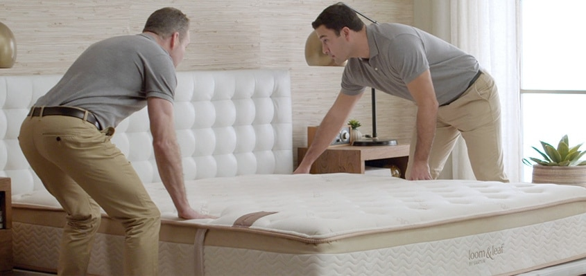 loom and leaf mattress delivery process