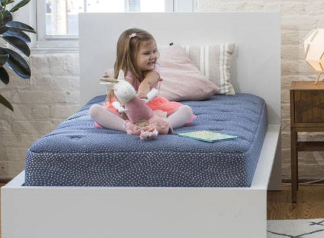 little luft mattress - little girl on mattress