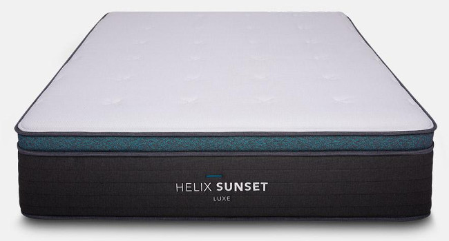 helix luxe mattress review sunset