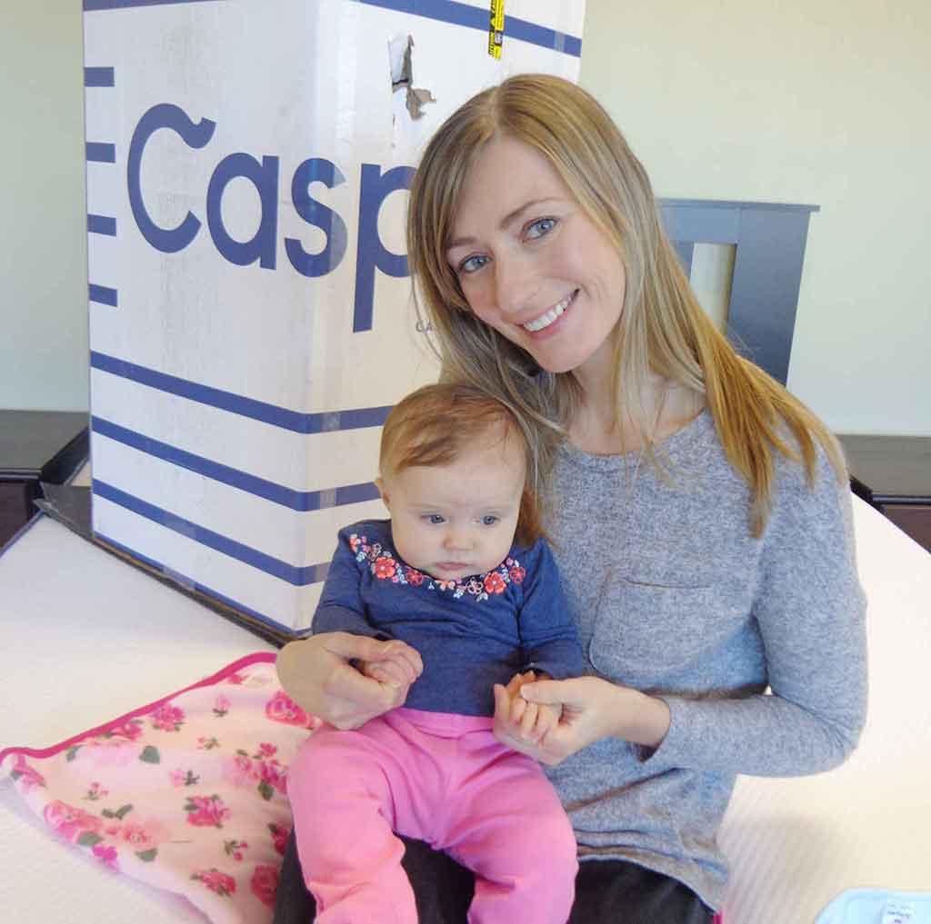 casper box woman and baby