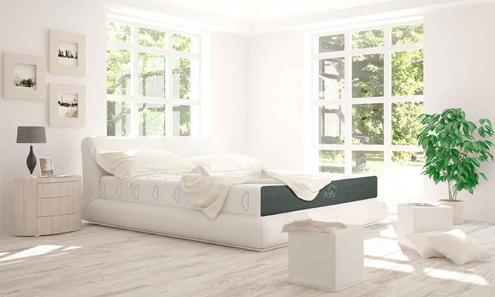 puffy mattress white decor