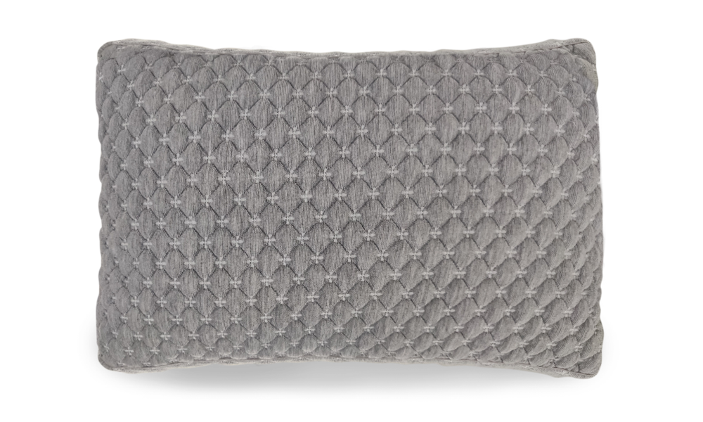 soft gray pillow cover