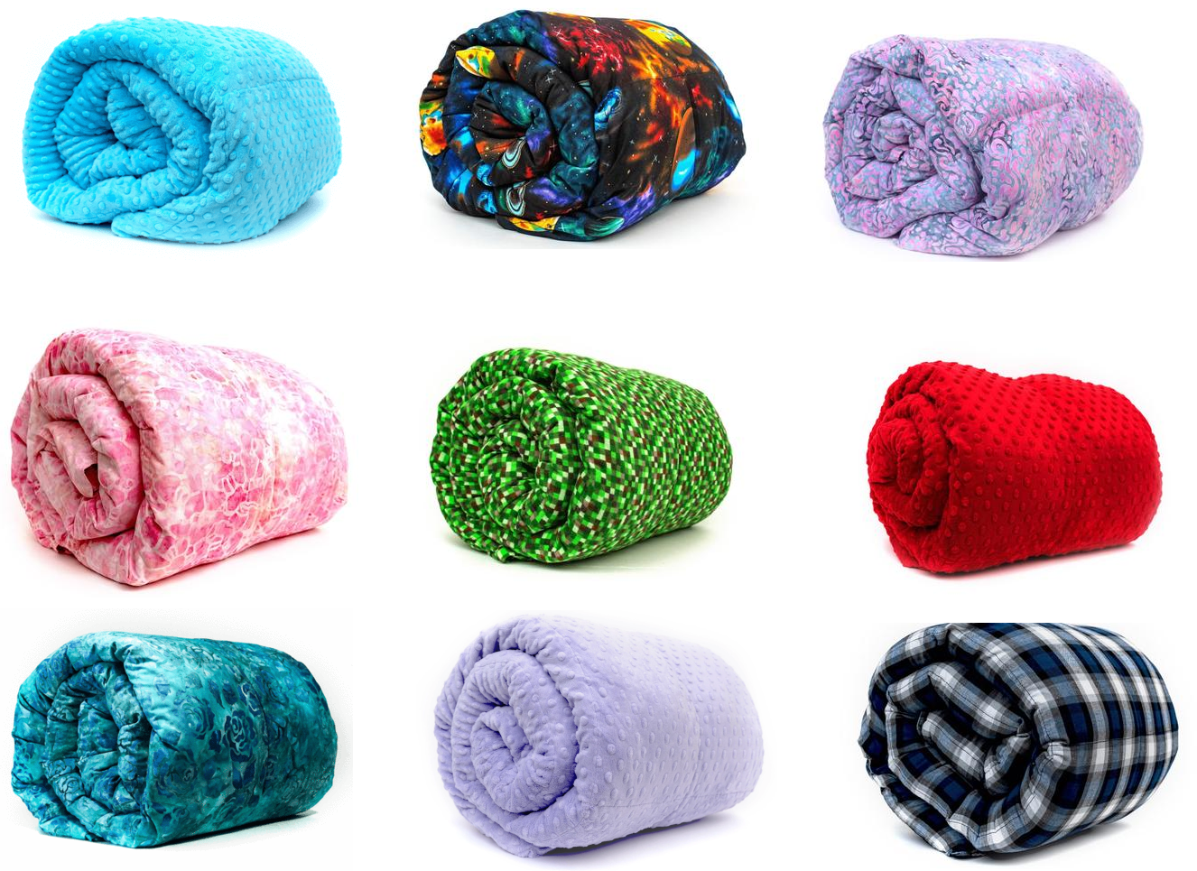 weighted blanket color and weight options
