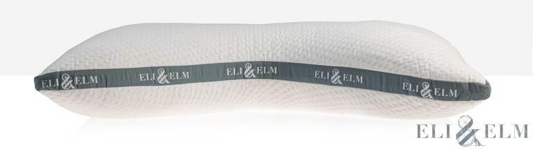 original eli and elm side sleeper pillow with latex noodles and polyester fill