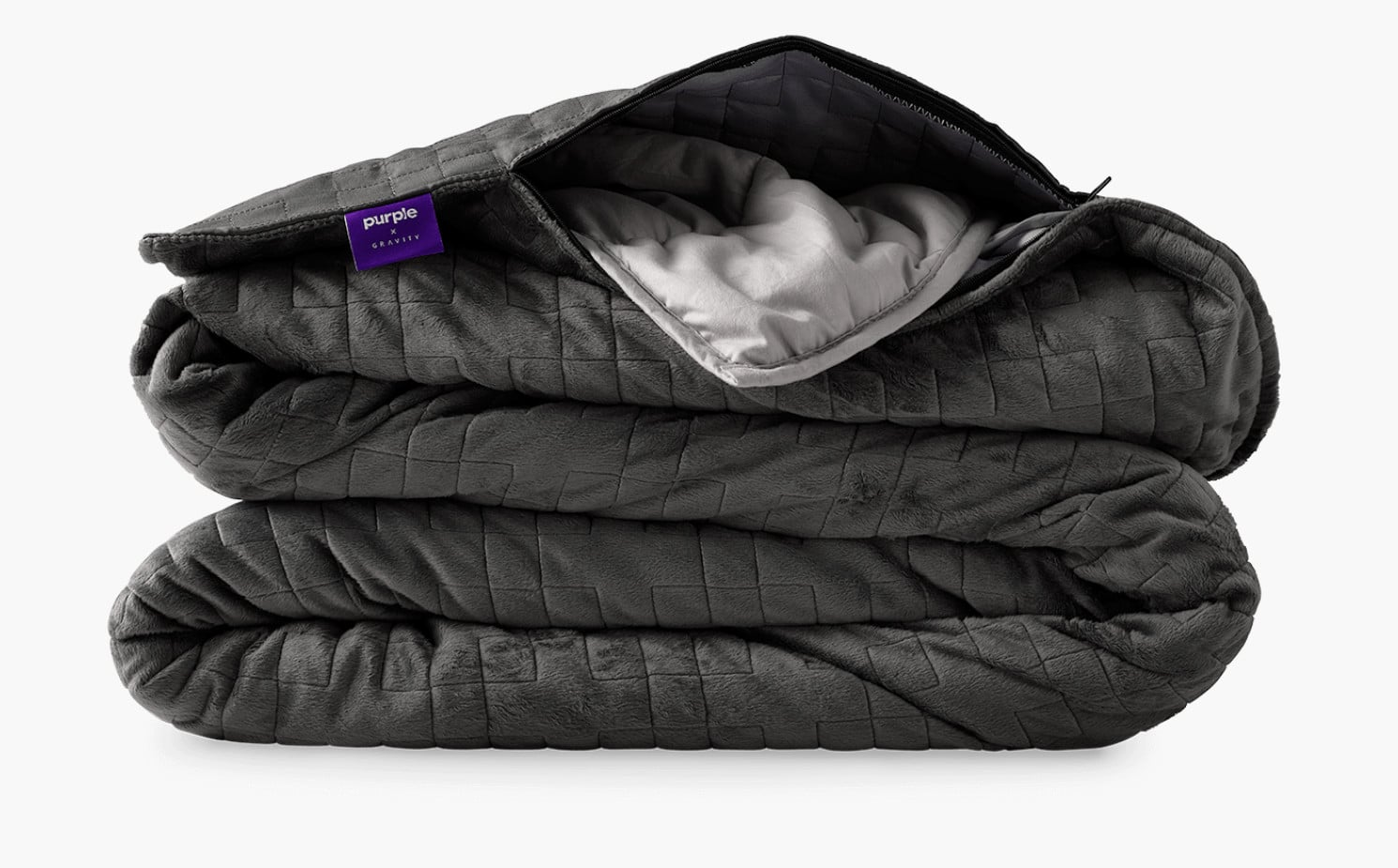 purple weighted blanket bedding accessory