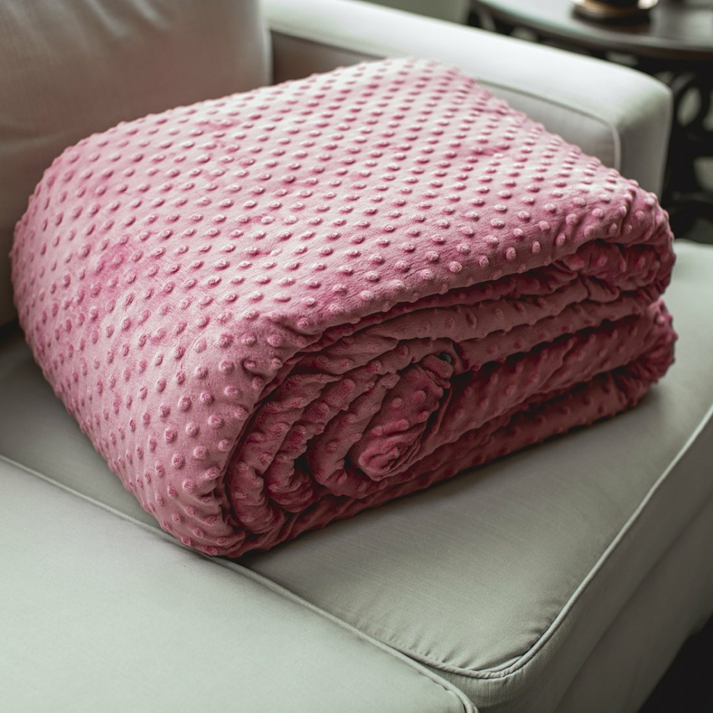 minky fleece covered weighted blanket duvet