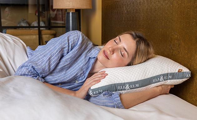 eli and elm organic cotton pillow