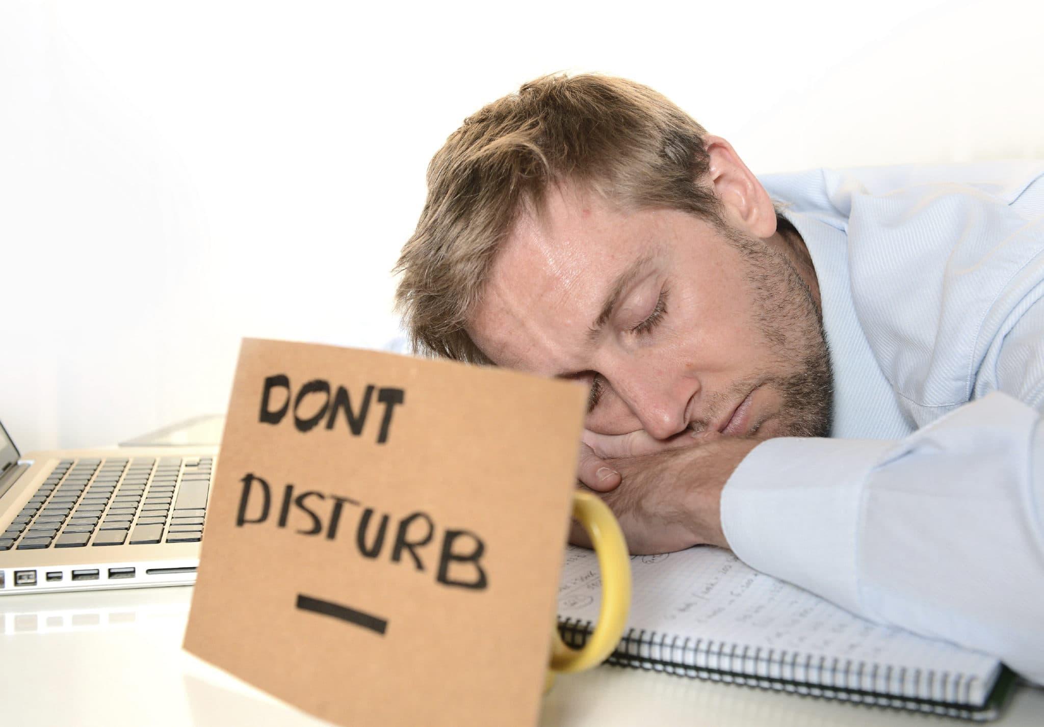 too much sleeping to wake up