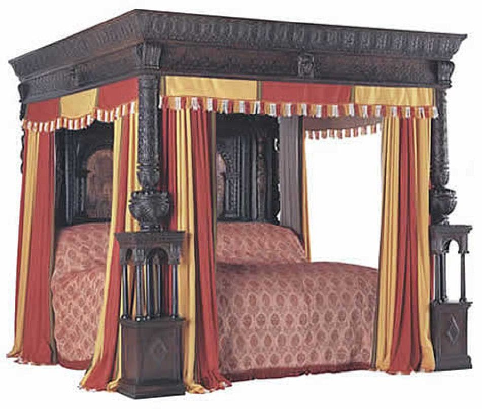 curtain bed middle ages