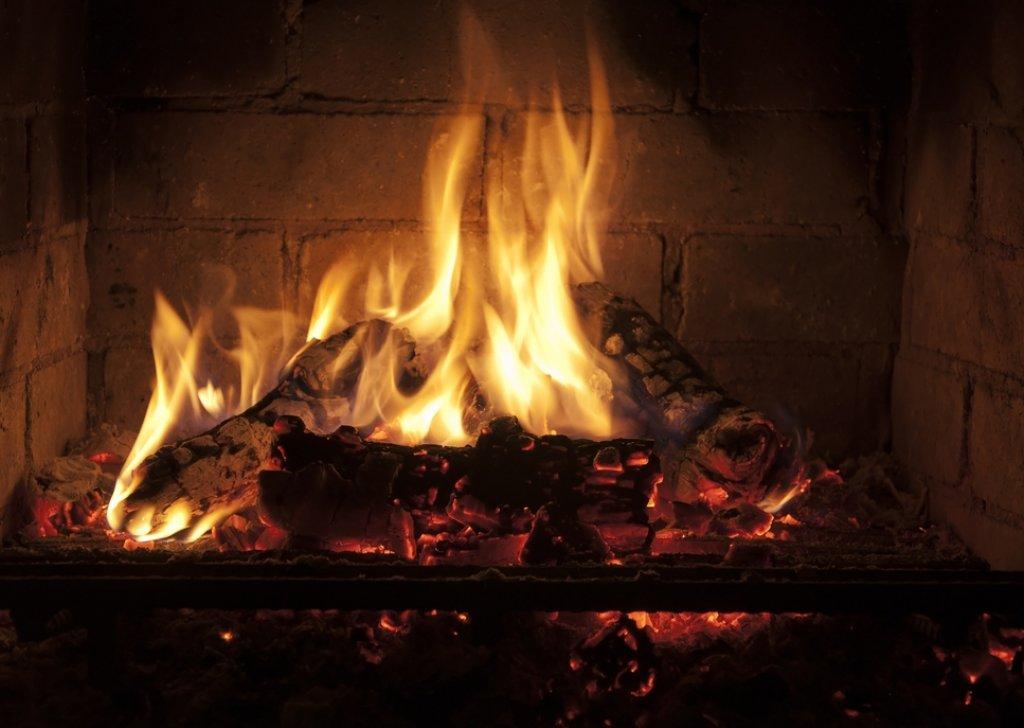 sleeping by fire