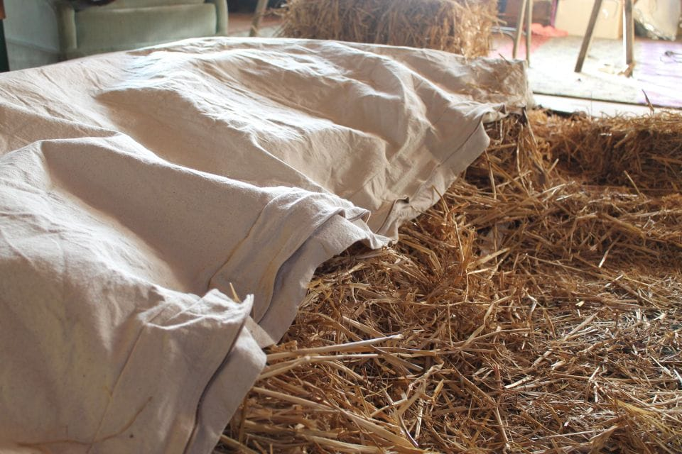 history fo sleep straw bed
