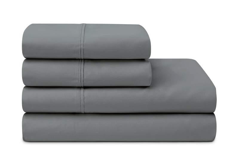 dark grey charcoal cotton blend sheets