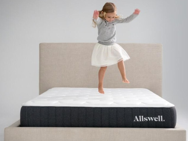 best mattress under $300 - little girl jumping on allswell