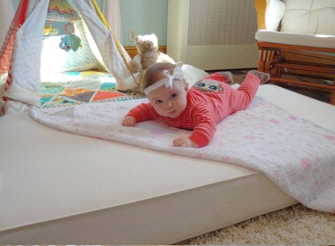 best crib mattress - baby on mattress