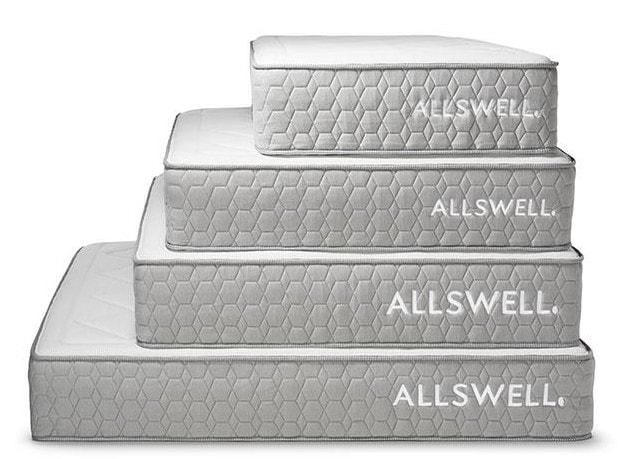 allswell mattresses stack of luxe hybrids