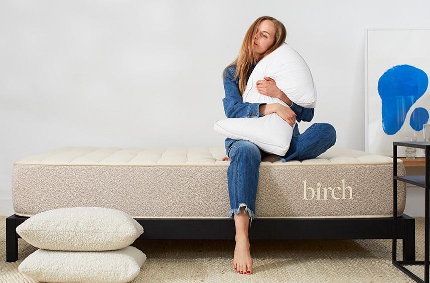 birch pillow and mattress