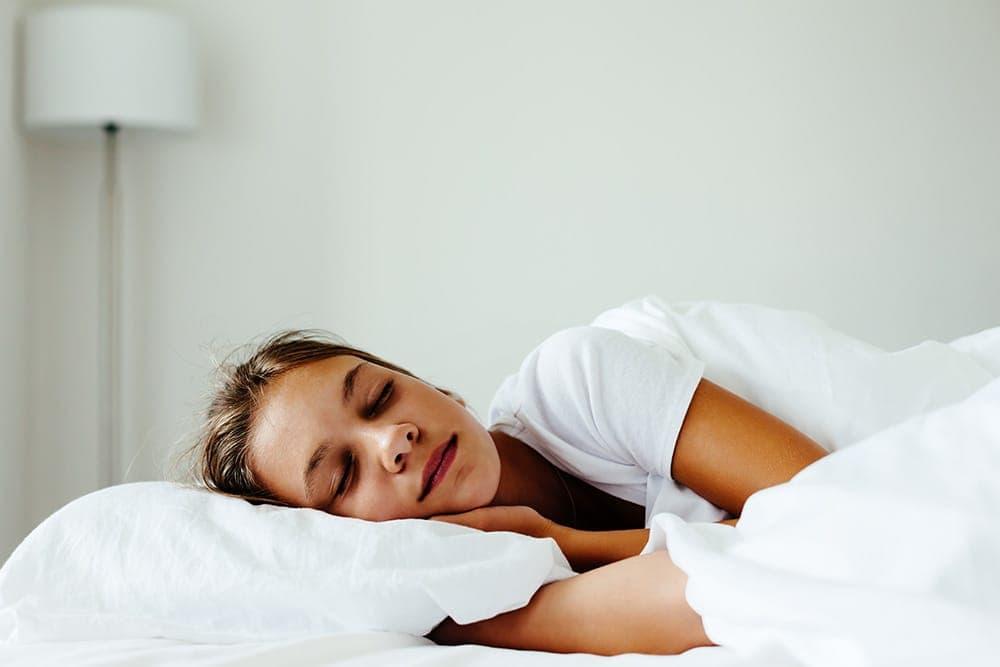 happy teen sleeper